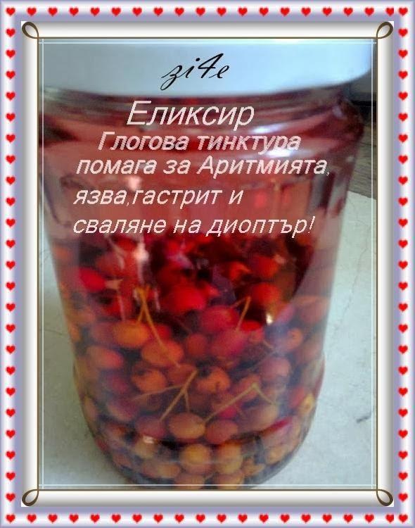 ЧЕРПАК С МЕРАК: Рецепта -глогова тинктура :за сваляне на..