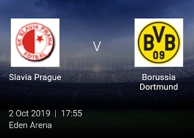 LIVE MATCH: Slavia Prague Vs Borussia Dortmund UEFA Champions League 02/10/2019