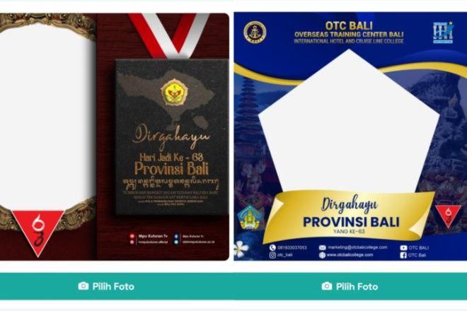 Download Bingkai Foto Twibbon Spesial Hari Jadi Provinsi Bali ke-63