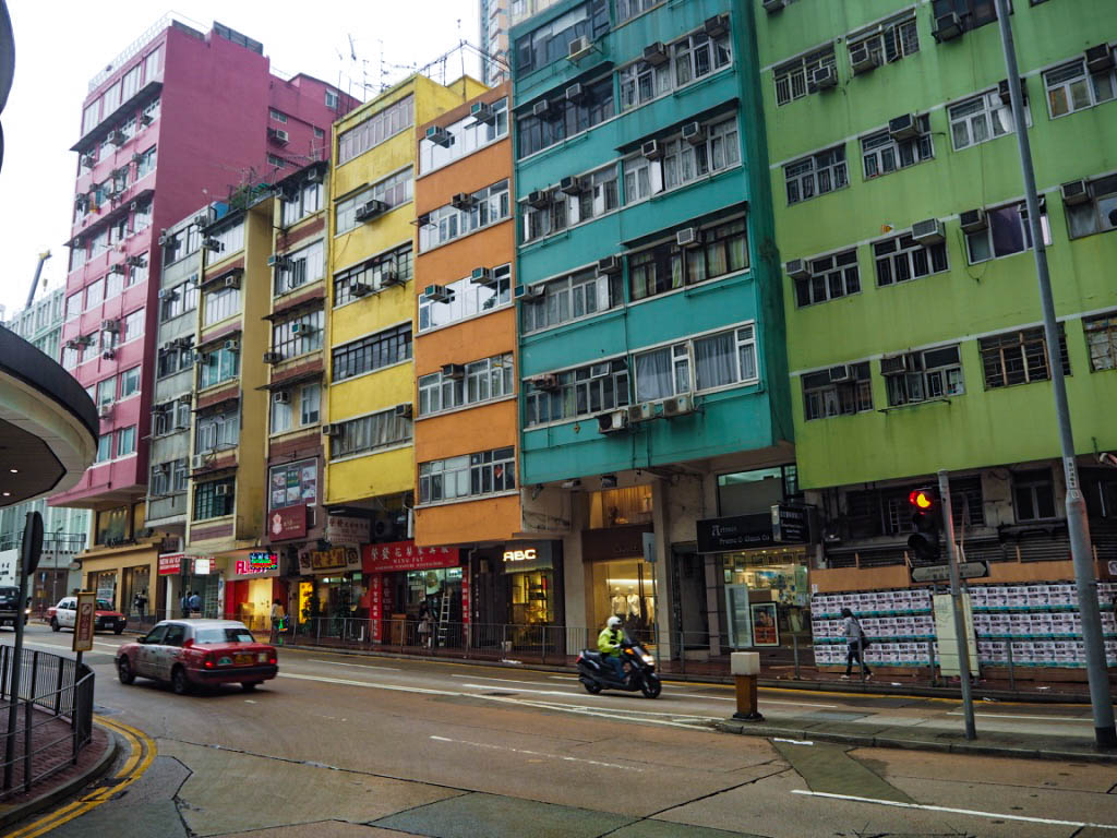 Colourful buildings in Hong Kong