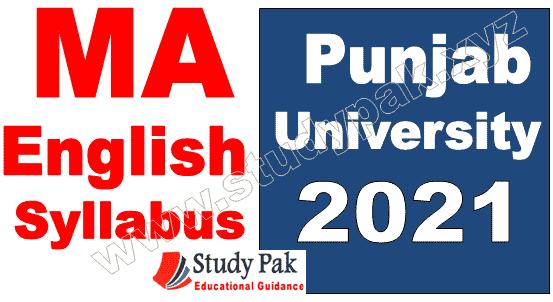PU MA English syllabus and subjects 2021