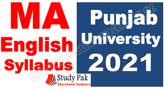 MA English syllabus and subjects Punjab University 2021