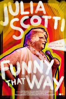 Julia Scotti doing stand up comedy
