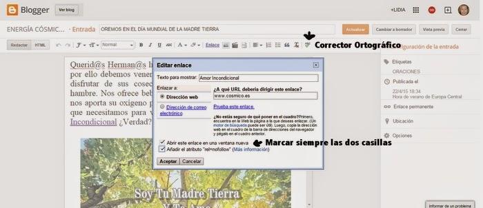 Link Nofollow y Corrector Ortográfico
