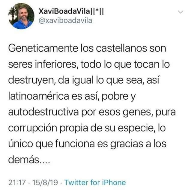 Xavi Boada Vila,genéticamente,castellanos, catanazi