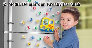 Menjadi Media Belajar dan Kreativitas Anak merupakan manfaat tempelan magnet kulkas untuk sehari-hari