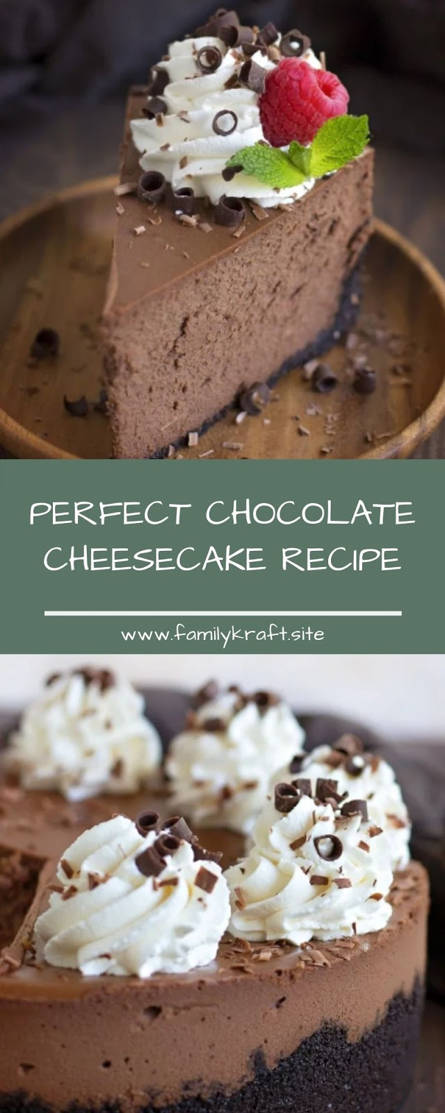 PERFECT CHOCOLATE CHEESECAKE RECIPE
