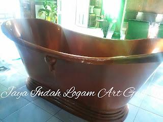 Bak Mandi - bathtube Tembaga dan  Kuningan - pusat kerajinan tembaga dan kuningan