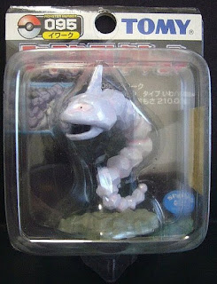 Onix Pokemon figure Tomy Monster Collection black package series