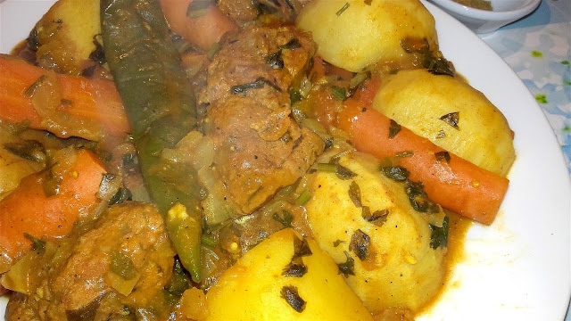 traditional moroccan marmeta tajine with homemade seitan