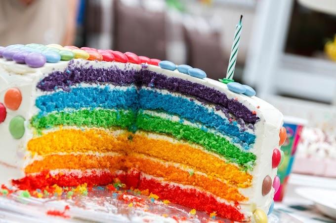 Delicioso, Bolo, Aniversário, Confeitos Coloridos