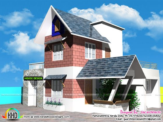 Modern sloping roof home 1500 sq-ft