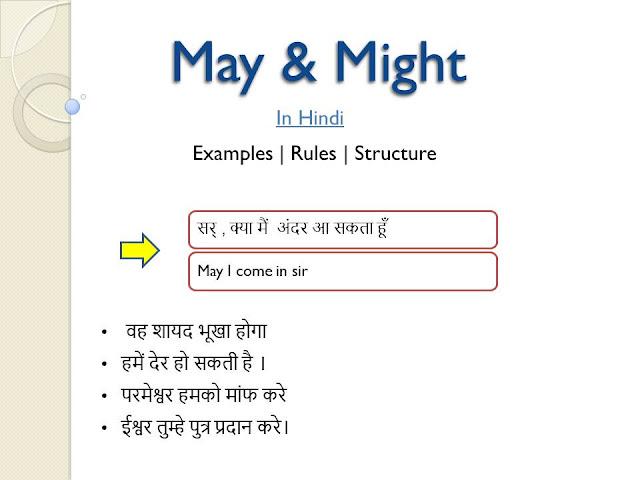 may and might in hindi