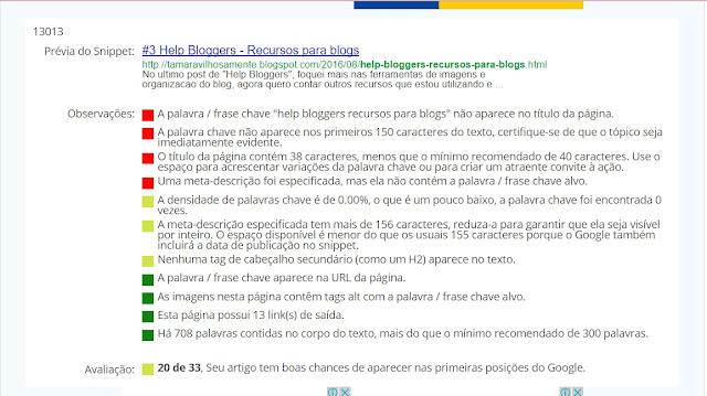 help bloggers - recursos para blogs - ferramenta seo blog - Tamaravilhosamente