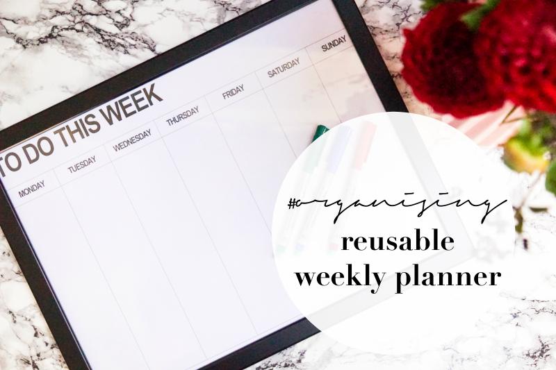 DIY wiederverwendbarer Wochenplan