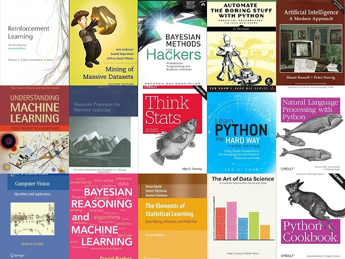 25+ Free Artificial Intelligence, Machine Learning, Data Science & Python eBooks
