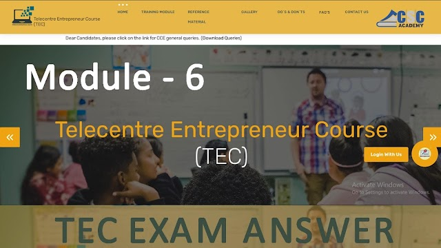 Recording Business Transactions - TEC Exam Answer Key 2021 Module 06