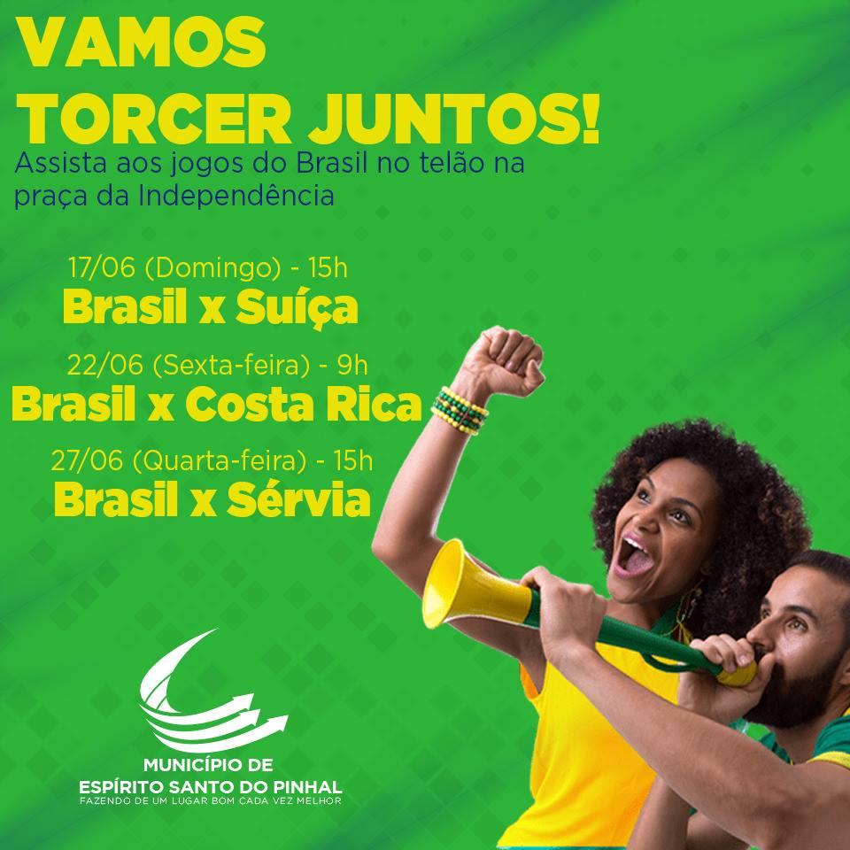 Pinhal ganha telão para acompanhar os jogos da Seleção Brasileira