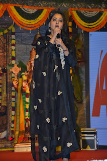 Actress Anushka Anushka Shetty Stills in Black Salwar Kameez at Om Namo Venkatesaya Audio Launch Event  0050.JPG