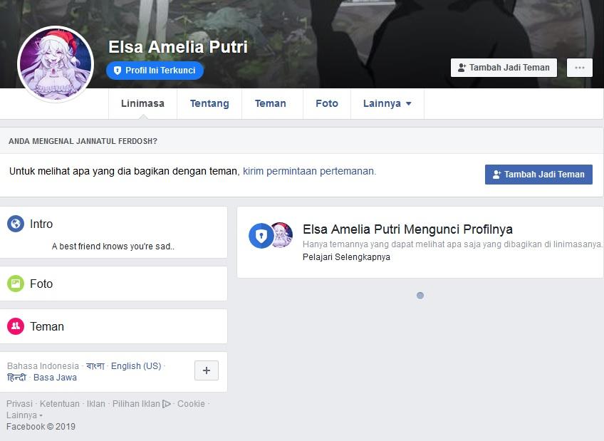 Cara Membuat Profil Terkunci di akun Facebook