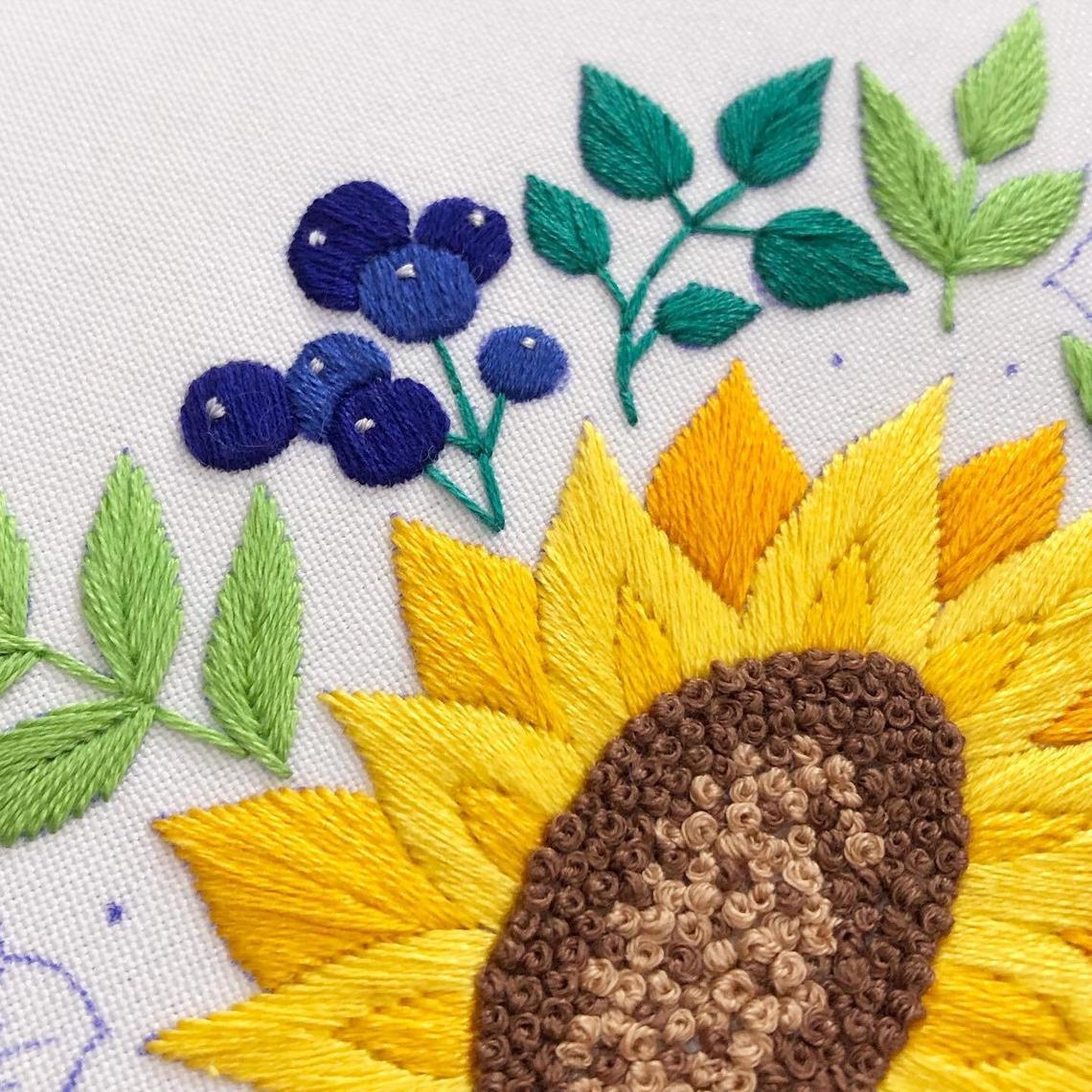 Hướng dẫn thêu hoa hướng dương - Hình 4