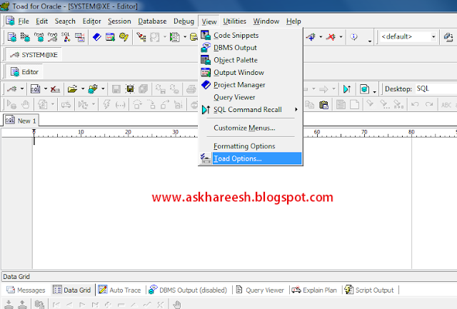 How to Setup Shortcuts in Toad, askhareesh blog for Oracle Apps