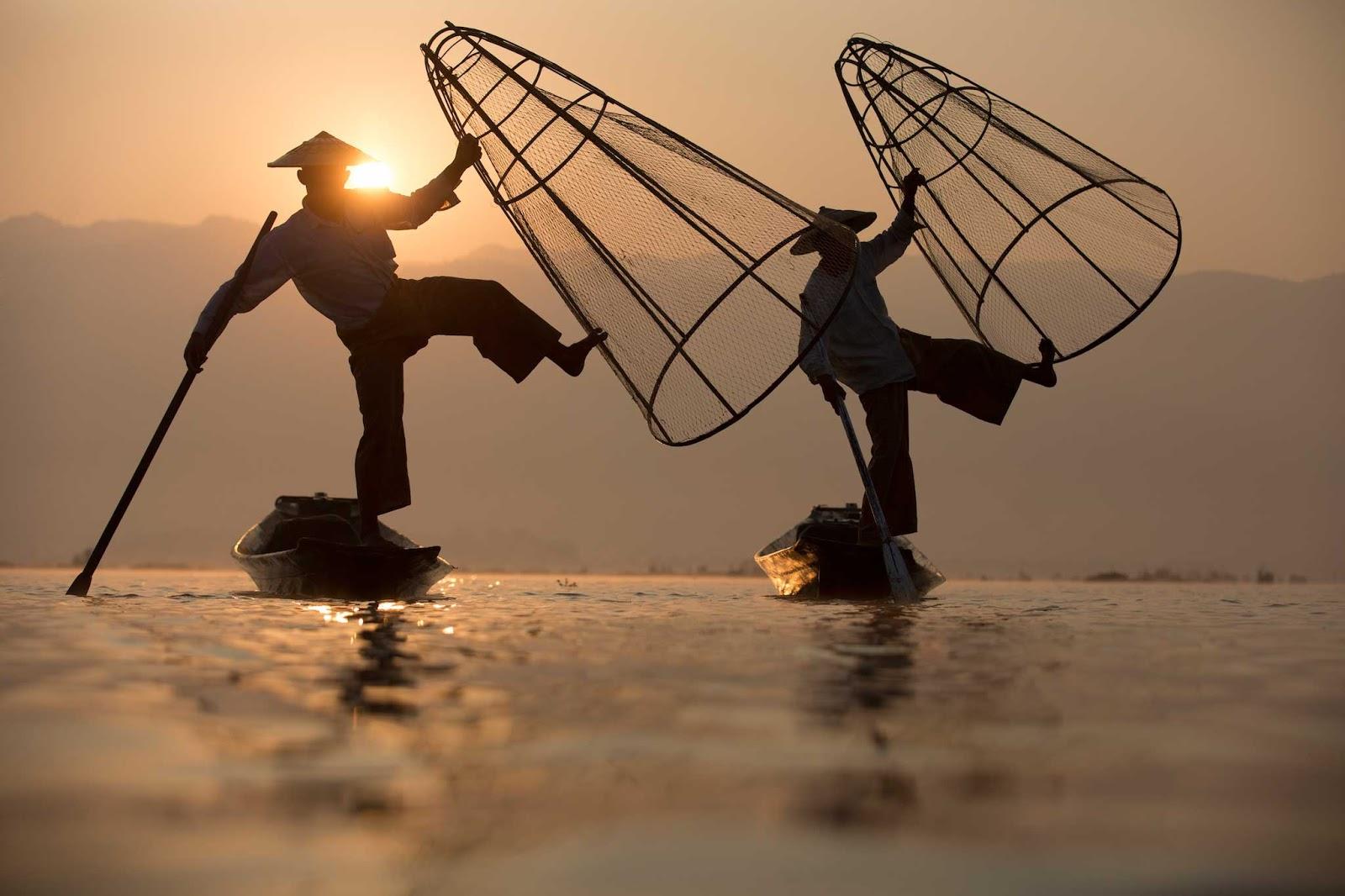 ngư dân ở đây bắt cá