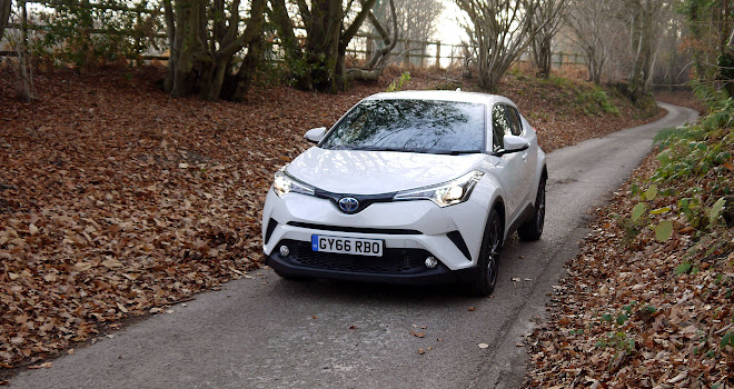 Toyota C-HR Hybrid on the road