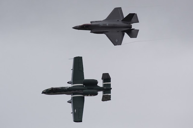USAF F35 A10 Demo Team