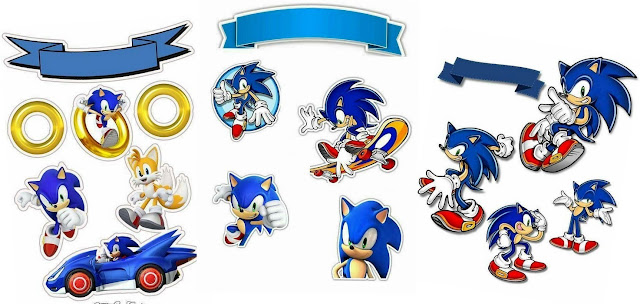 Sonic Free Printable Cake Toppers.