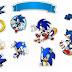 Sonic: Toppers para Tartas, Tortas, Pasteles, Bizcochos o Cakes para Imprimir Gratis.