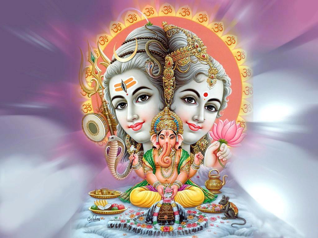 lord ganesh family hd desktop images lord ganesh hd wallpapers