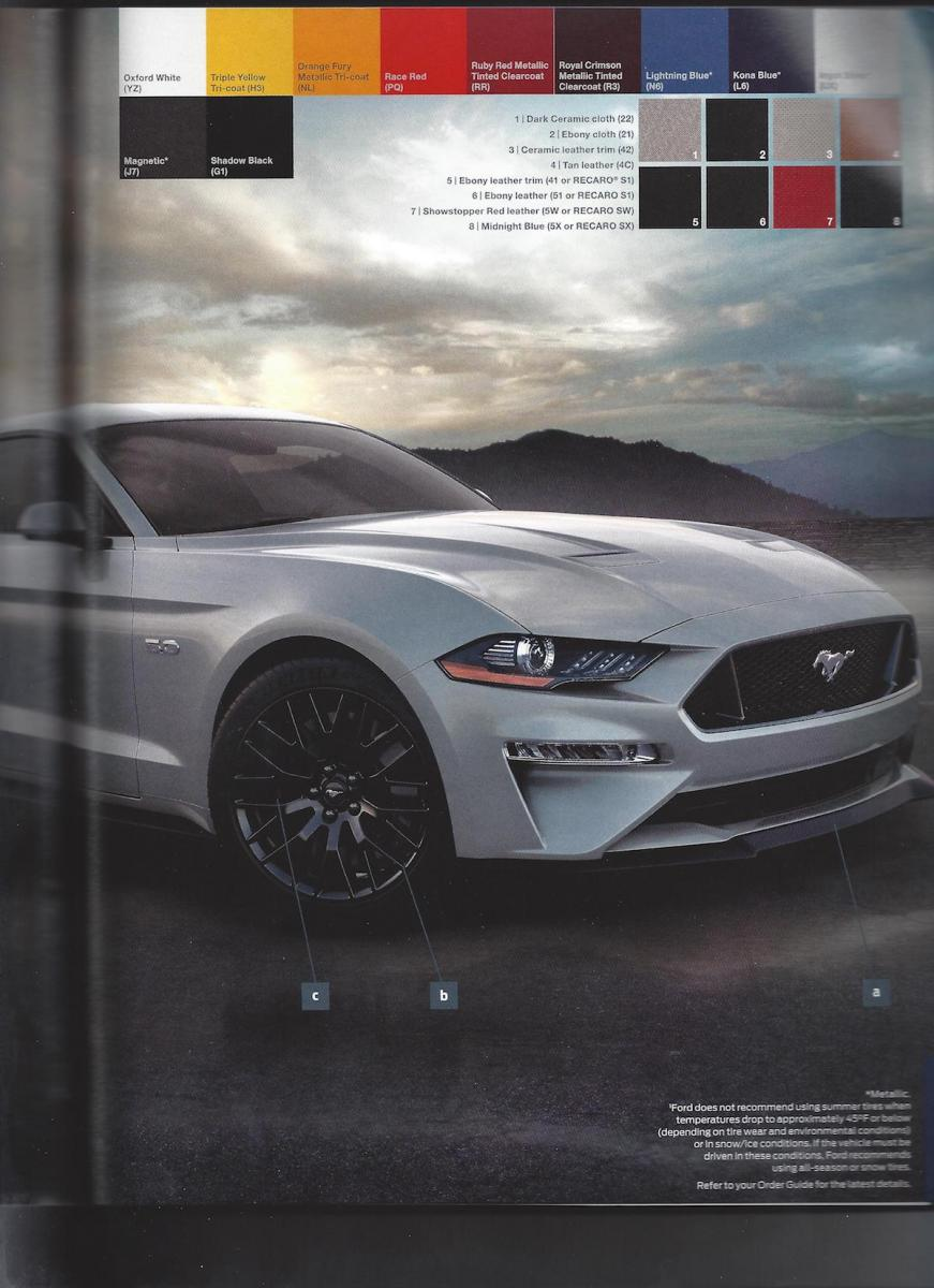 2018 ford mustang order guide leaked just don t opt for the chrome grille carscoops. Black Bedroom Furniture Sets. Home Design Ideas