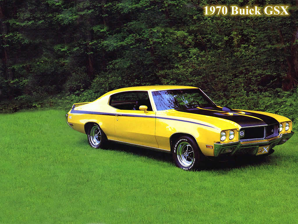 muscle car 1970 buick gsx stage i hardtop coupe