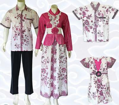 model baju batik keluarga couple