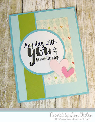 Any Day with You card-designed by Lori Tecler/Inking Aloud-digital stamps and dies from Verve Stamps