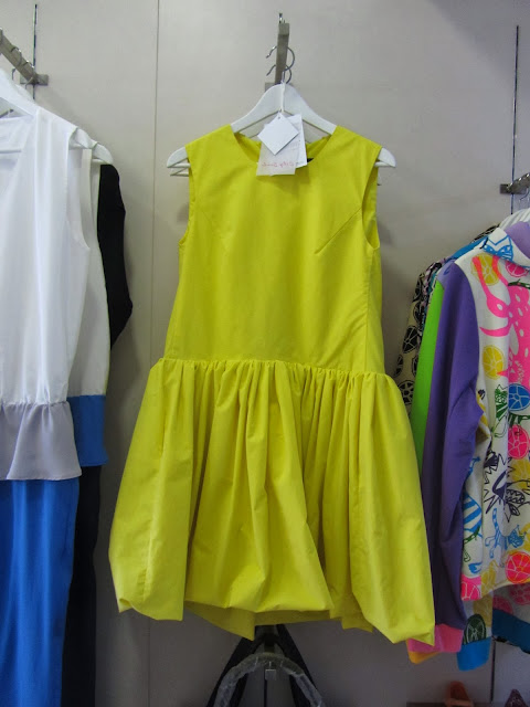 Shift dress in bright yellow on sale at Czech boutique