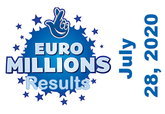 EuroMillions Draw Result for Tuesday, July 28, 2020
