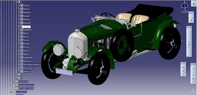 Bentley Birkin Blower'ın dijital modellemesi tamamlandı