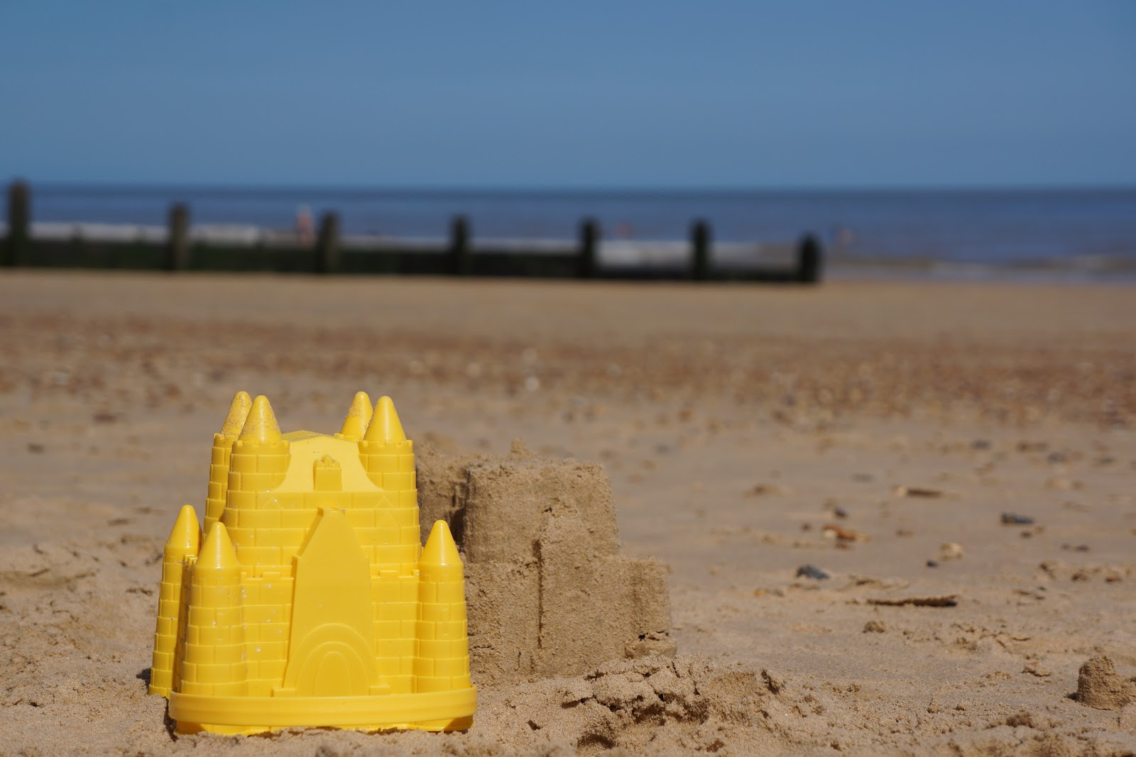building sandcastles at frinton-on-sea