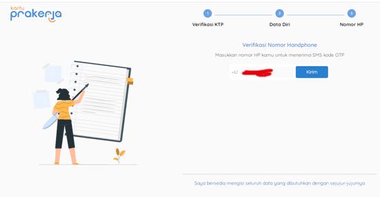 3 tahap pengesian data diri di kartu prakerja