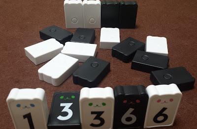 はじめてのアルゴ 理牌(白1、黒3倒し、白3、黒6、白6)