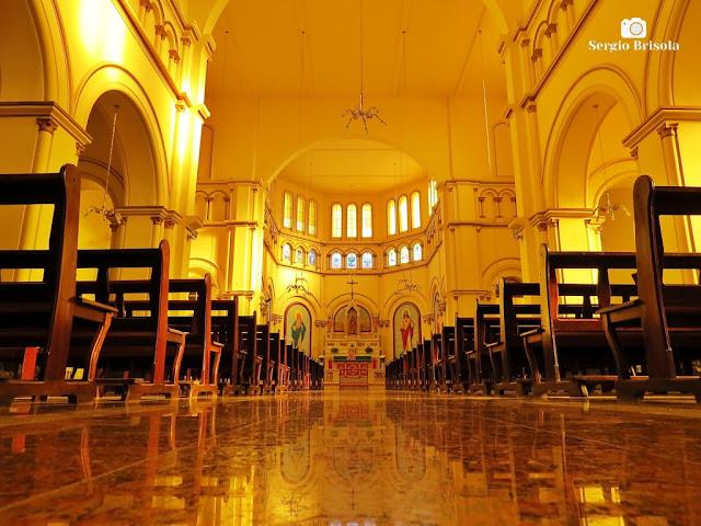 Vista do interior da Igreja São Januário - Mooca - São Paulo