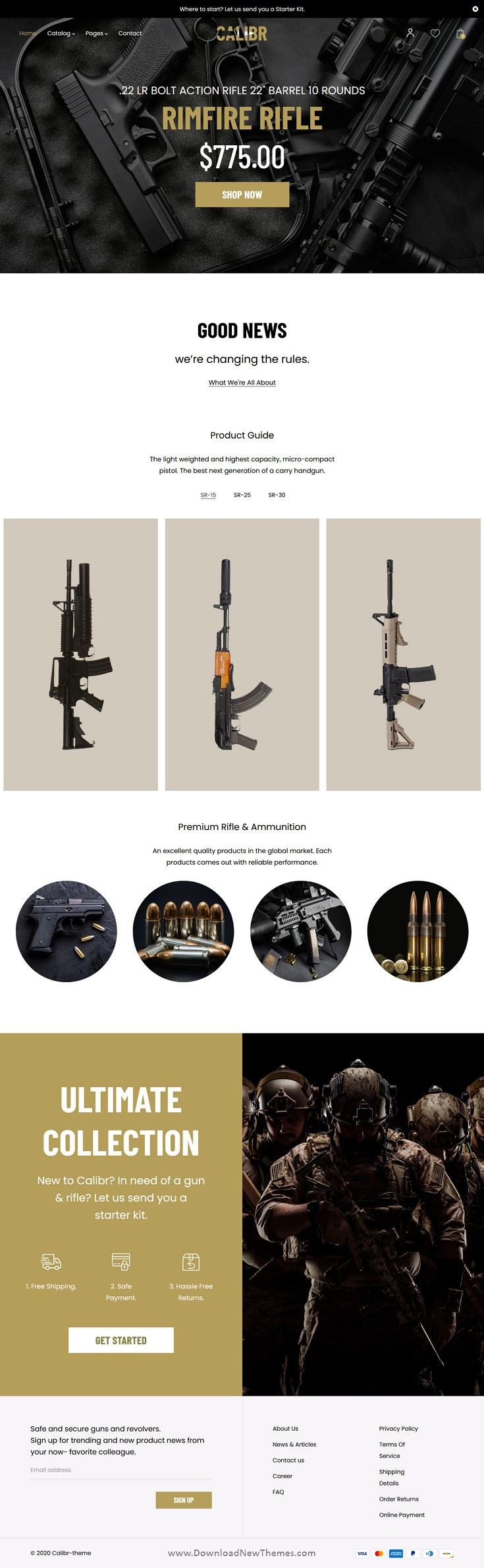 Weapon Store and Gun Training Shopify Theme