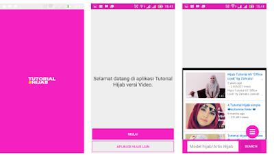 Aplikasi Tutorial Hijab Segi Empat untuk Ponsel Android