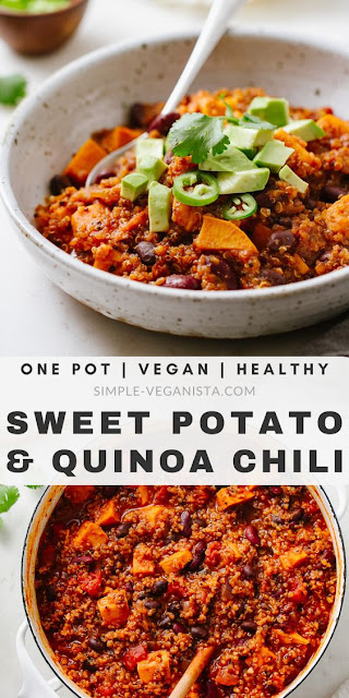 SWEET POTATO & QUINOA CHILI - VEGETARIAN FOOD