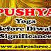 Pushya Nakshatra Before Diwali