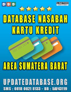 Jual Database Nasabah Kartu Kredit Sumatera Barat