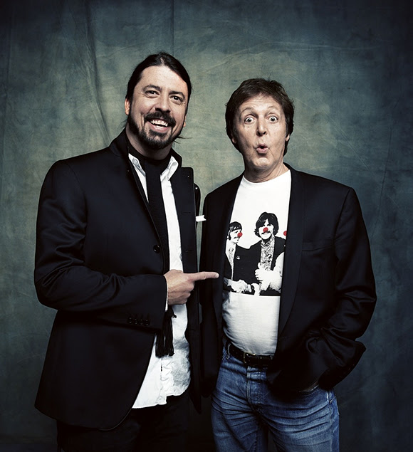 Paul McCartney batteur des Foo Fighters