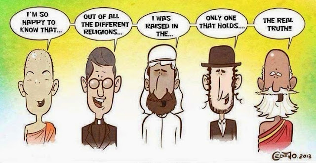 Funny The One True Religion Cartoon Picture